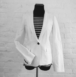 Madewell Single Button Blazer, White